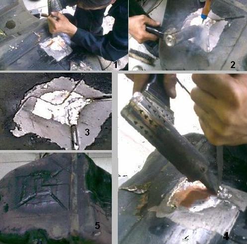 Как заделать дыры в кузове своими руками 11