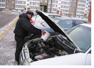 зимой холодный двигатель зачастую трудно завести
